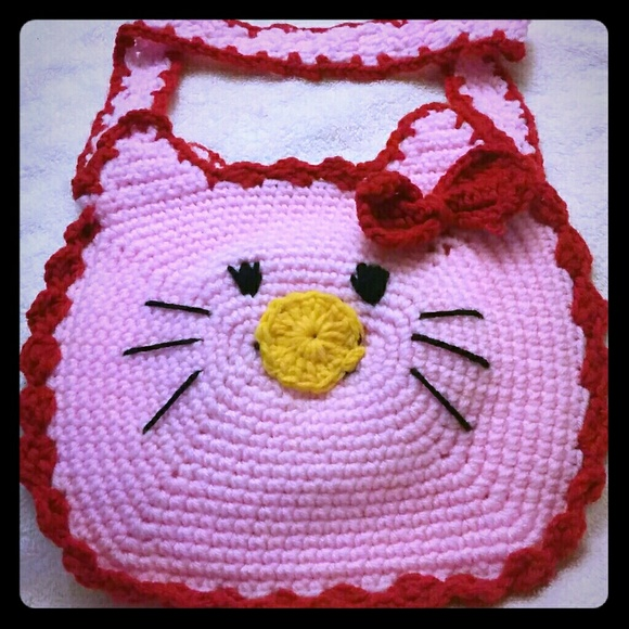 Handmade Accessories Hello Kitty Bag For Little Girls For Easter